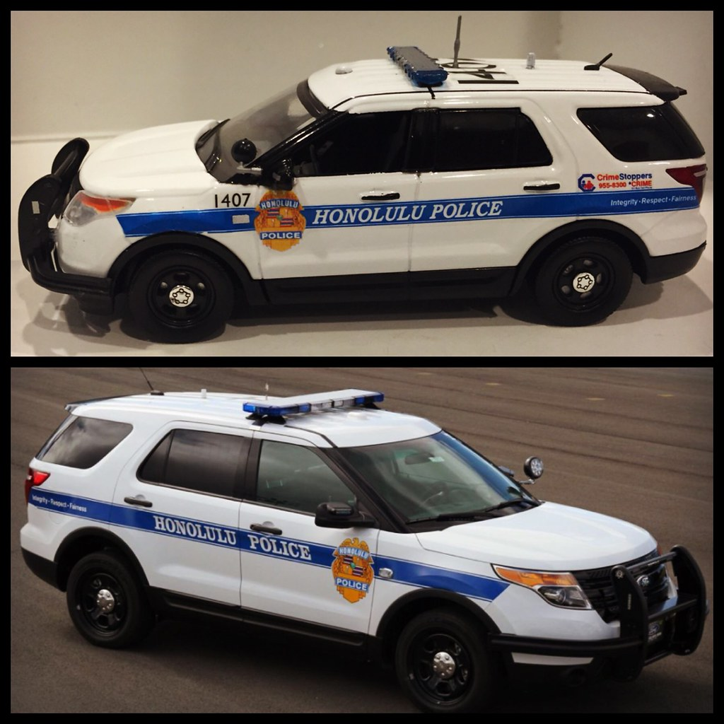 Honolulu Hawaii Police - 1/43 Motormax Ford Explorer Int