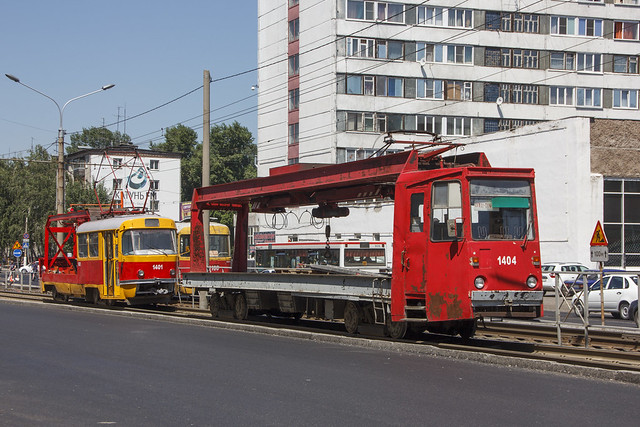 TK-28A 1404 and Tatra T3SU 1401 special trams
