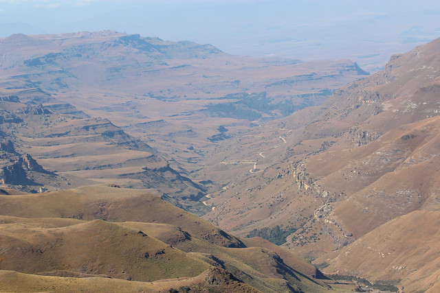 View back towards South Africa from Sani Pass