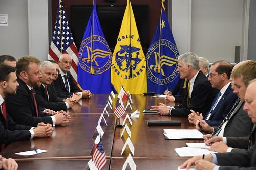 HHS Secretary of HHS Alex M. Azar & Polish Minister of Health Szumowski sign a Memorandum of Understanding