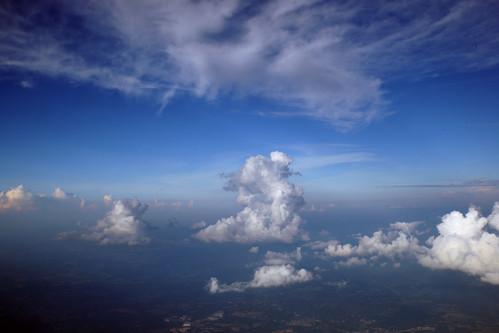 skyscape summer northamerica clouds aerial cumulus cirrus