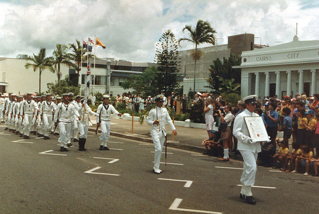 HMAS Cairns Freedom of Entry March
