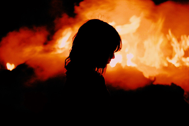 in the flames // silhouette & portrait