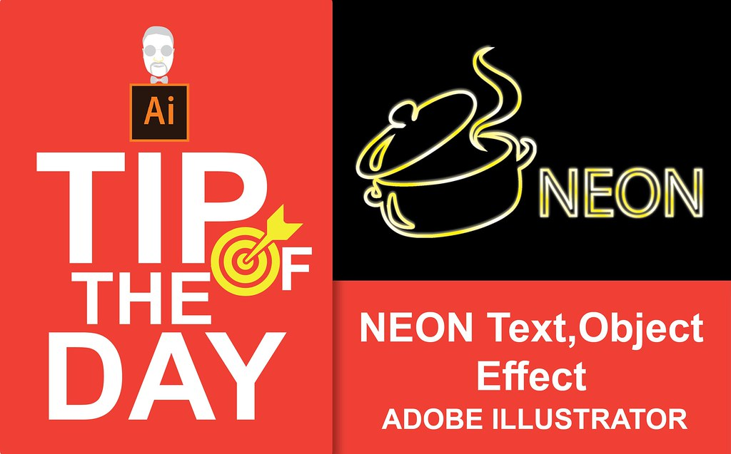 How to Create NEON Text and Object Effect Illustrator Tuto