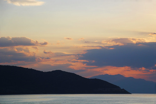 sunset sky greek greece view island
