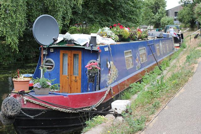 "( 2 ) Narrow Boat - "" Zendu"" . River Stort Navigation , Bishop's Stortford , Hertfordshire . Friday 20th-July-2018 ."