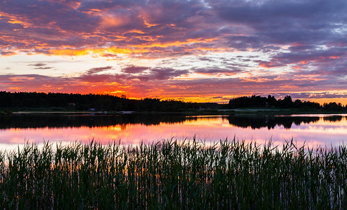 kesä landscape pitkäjärvi pilvi laaksolahti auringonlasku hdr reflection espoo järvi taivas aurinko cloud lake sky sun sundown sunset