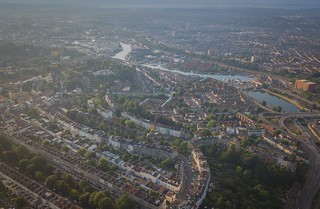 The Bristol harbour area taken from Clifton.