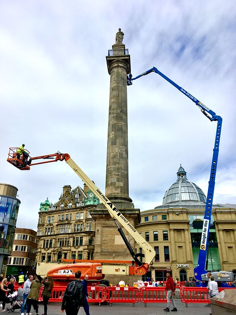 Preparing Earl Grey's Monument for the Great Exhibition of the North