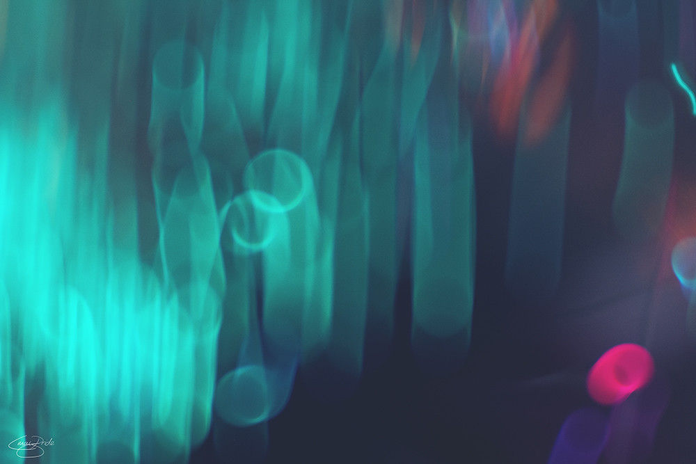 Turquoise And Pink Blur...