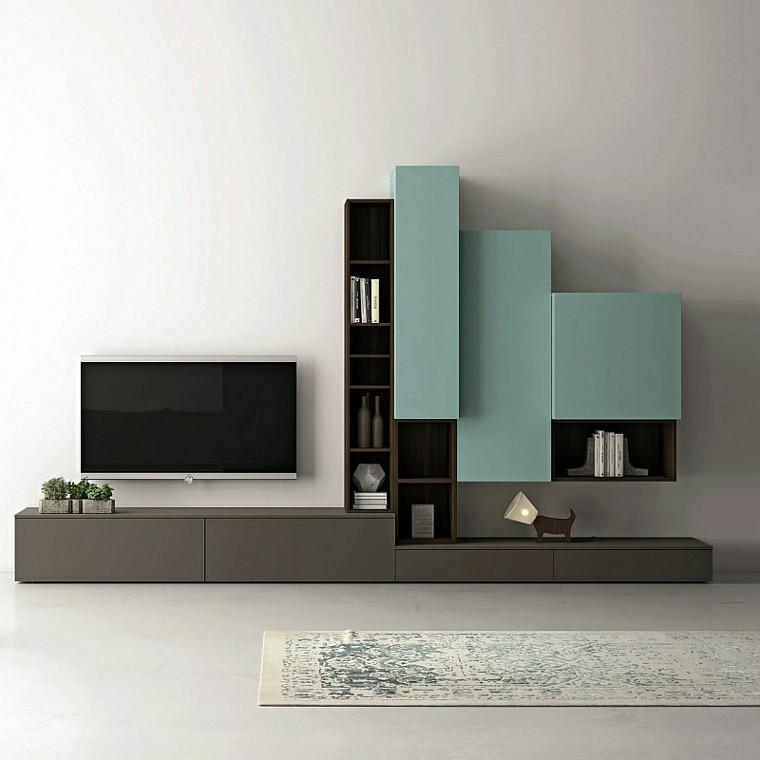 Mobili per soggiorno moderni e scaffali per libri da decor ...