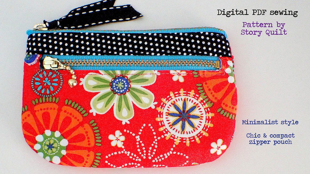 PDF Pattern and Tutorial Mini-pouch,Purse Tutorial and Pattern in Pictures Bag Pattern,Sewing Pattern in Pictures Digital Pattern
