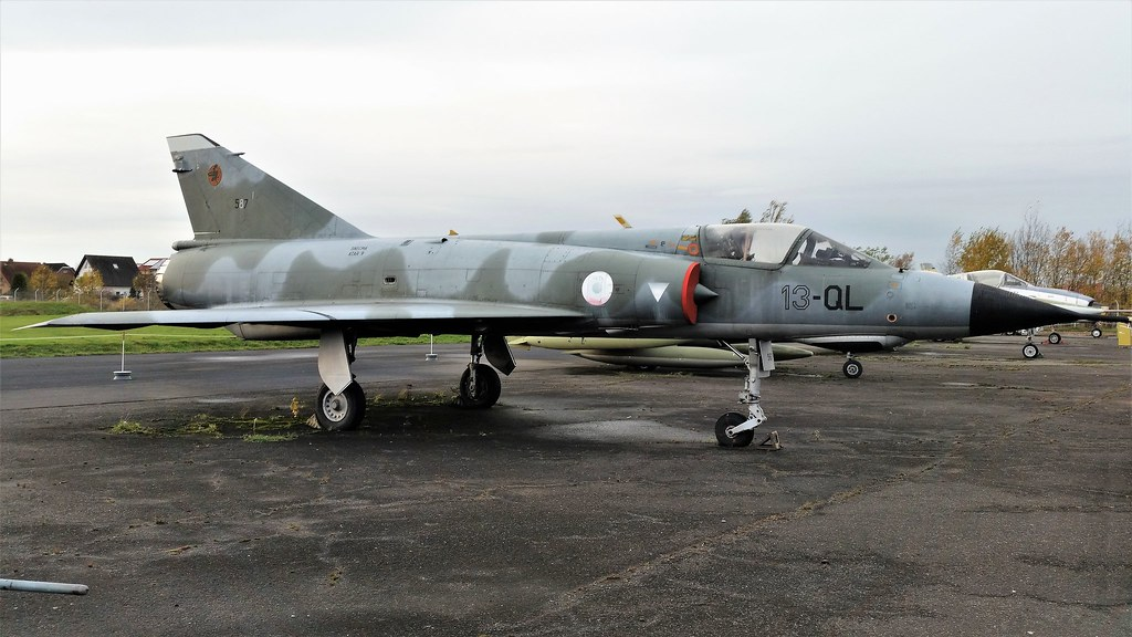 Mirage-3E 587/13-QL ex EC-1/13 French Air Force/ Armee de 'l Air. Preserved, Berlin-Gatow Luftwaffen Museum. 14 November 2017.