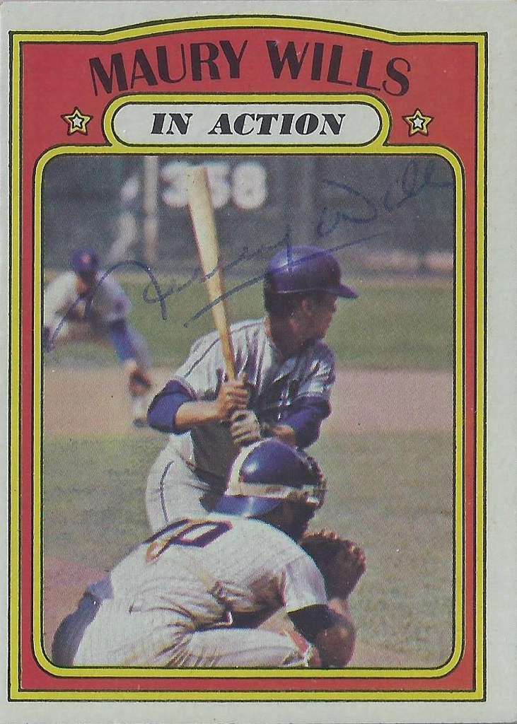 1972 Topps In Action Maury Wills 438 Shortstop Au Flickr