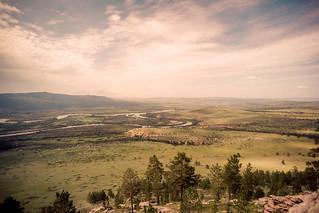 landscape of the Mongolia - Russia Border near Sukbaatar, Selenge, Mongolia