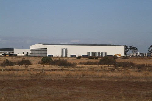 Massive warehouses in the middle of empty fields in Truganina