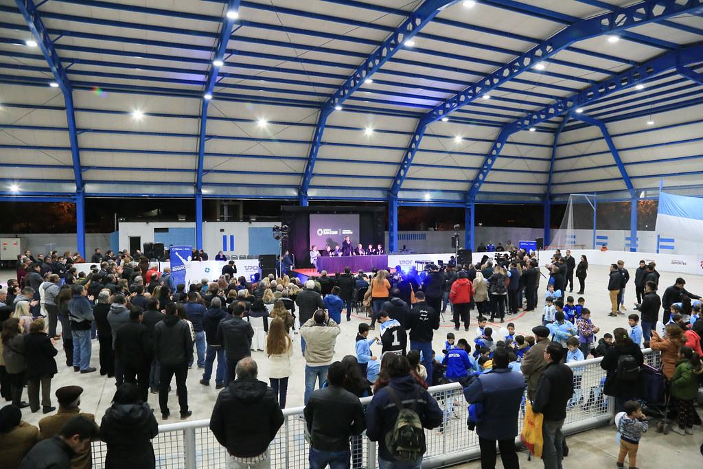 2018-06-26 PRENSA: Inauguración de Techado e Iluminación de la Cancha de Hockey Sobre Patines del Club Atlético Social San Juan.