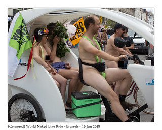 (Censored) World Naked Bike Ride – Brussels – 16 Jun 2018 | by BPvST - Benny Poncelet van Sint-Truiden