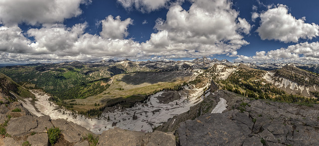 Panoramic view of the Tetons