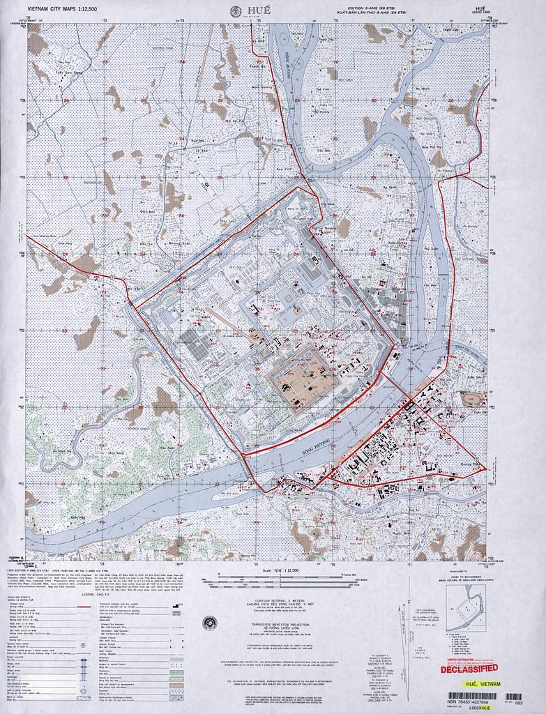 Bản đồ Huế 1968 - Hue Map (1:12,500) c 1968, detailed | Flickr