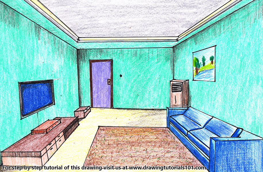 Wondrous One Point Perspective Room Step By Step Tutorial On Bit Ly Download Free Architecture Designs Scobabritishbridgeorg