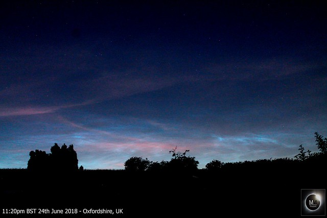 Noctilucent Cloud from Oxfordshire 24/06/18