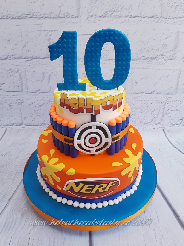 Awe Inspiring Nerf Gun Cake Helen Flickr Personalised Birthday Cards Veneteletsinfo