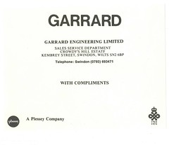 Garrard Compliments Early 70's