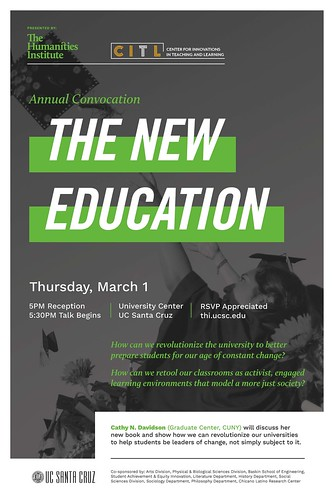 """Cathy Davidson: """"The New Education"""" 3.1.18"""