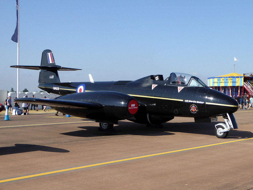 G-JWMA / WA638 Gloster Meteor T7 (mod) cn G5/356539 Martin-Baker RAF Fairford 14Jul18