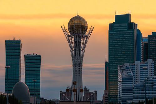 world cup trophy astana kazakhstan baiterek tower
