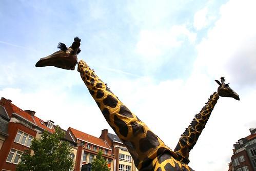 De giraffen van Teatro Pavana @ De Langste Dag in Leuven (23/06/2018) | by Kristel Van Loock