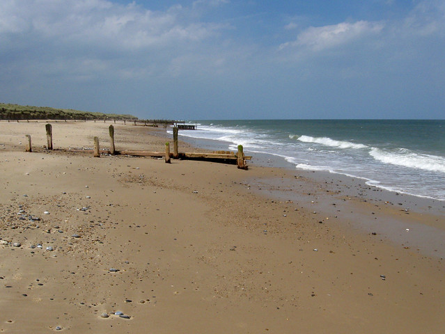 The beach north at Winterton-on-Sea Norfolk