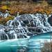 [冰島] 溶岩瀑布 Hraunfossar Waterfall
