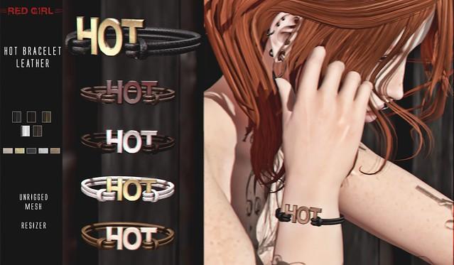 [RED GIRL] Hot Bracelet Leather NEW!!!