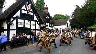 Domesday Morris Dancing at the White Lion, Barthomley, Cheshire 7