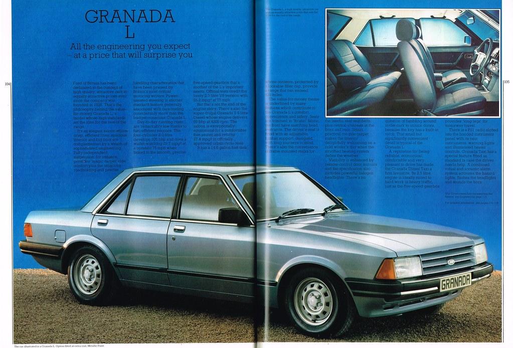 Ford Cars Mar-Apr 84 104-105 Granada L