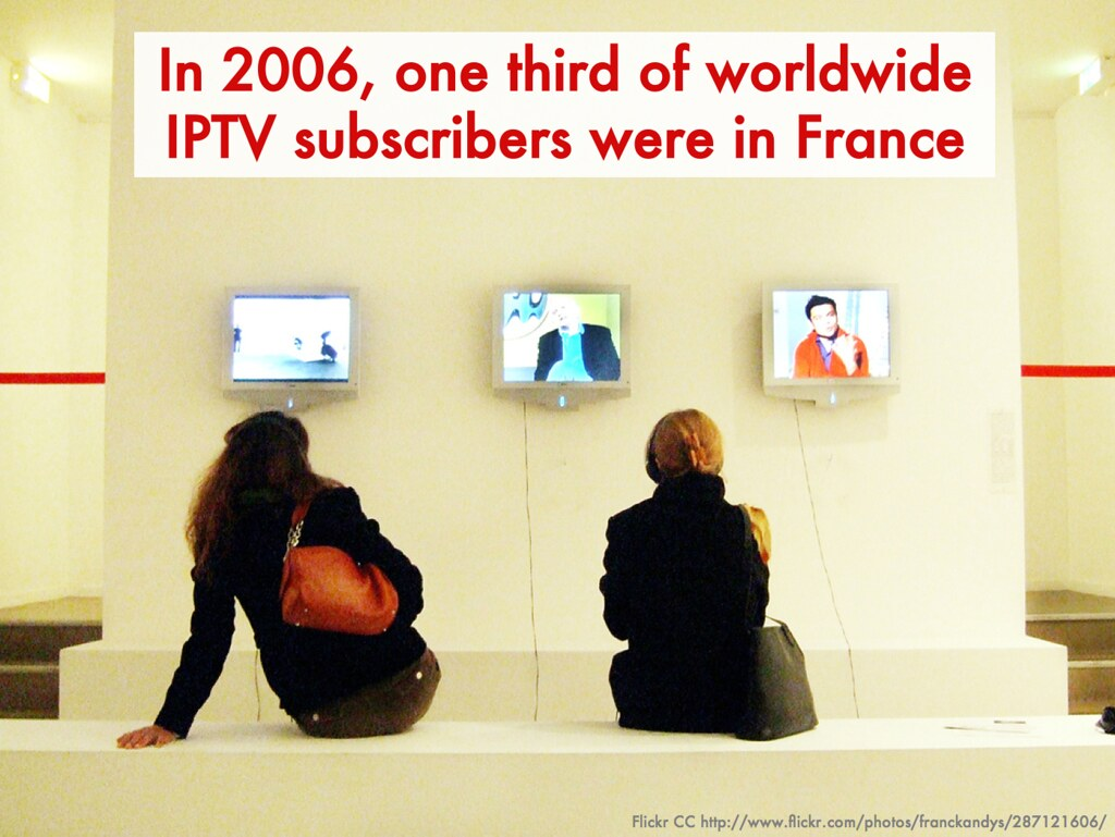 one third of IPTV global subs are in France