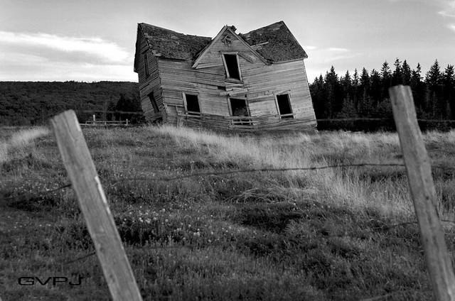 Slanted Home Nuttby Nova Scotia Canada