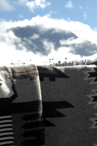 sky mountain clouds ecuador market carpets saturdaymarket otavalo imbabura