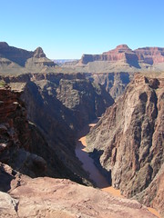 Colorado River from Plateau Point looking west Grand Canyon NP