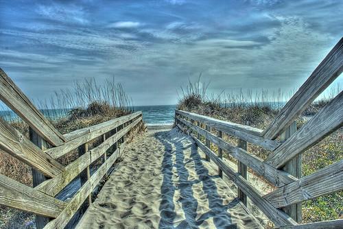 ocean beach view northcarolina atlanticocean hdr atlanticbeach photomatix