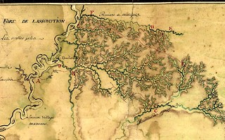 1740 chart of Fort Assumption (Memphis) and the watersheds of the Wolf, Coldwater, Tippah, and Little Talahatchie watersheds | by Greenway Guide