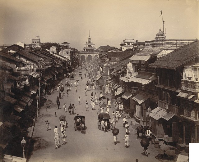 M G Road Baroda British India 1890 The Old Walled