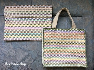 Pastel Color Tote Bag and Bag in Bag | by Beelationship Embroidery Studio