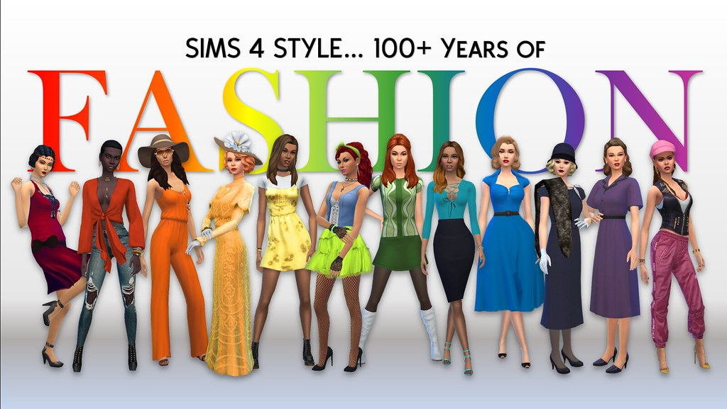 Sims 4 100 Years Of Fashion By Color Colourful Fashions Flickr
