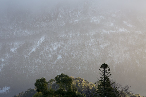 mtwellington kunanyi hobart tasmania mountain snow snowing tree landscape canon 400mm foothills