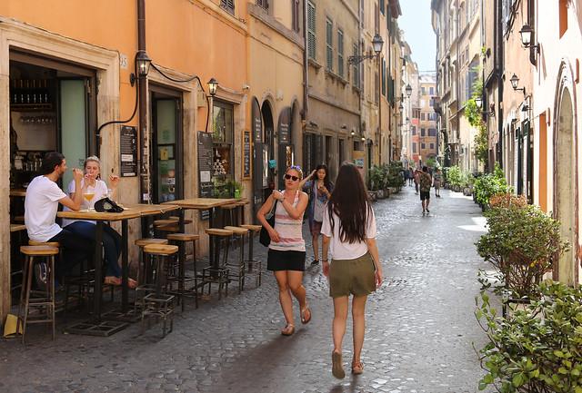 Peaceful ambience and a local vibe at Via dei Coronari in Rome