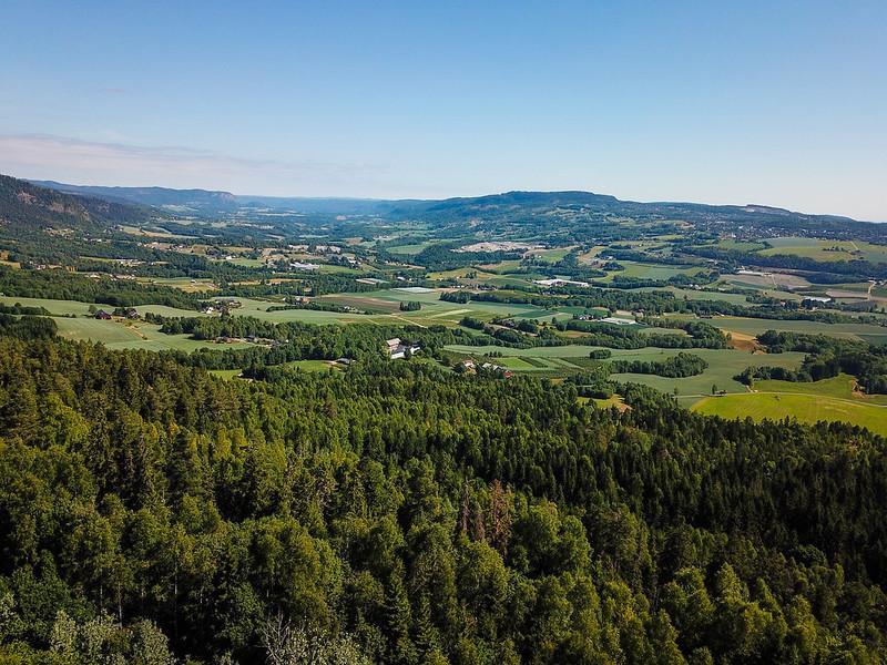 03-Utsikt opp Lierdalen fra Grindene (drone)