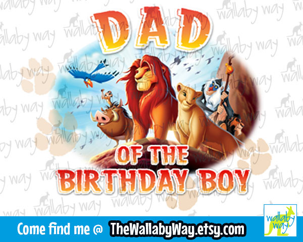 The Lion King Family Birthday Shirt Design 1 Dad Of The